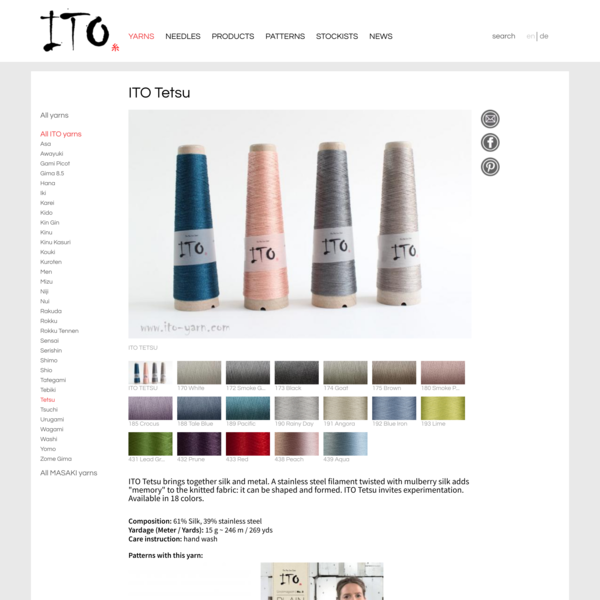 ITO Tetsu | ITO Yarn