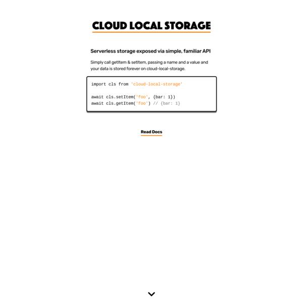 Cloud Local Storage