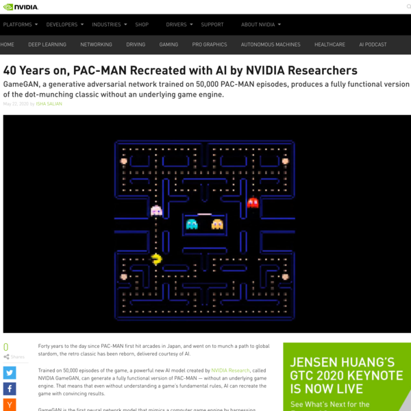 PAC-MAN Recreated with AI by NVIDIA Researchers | NVIDIA Blog