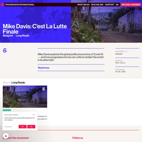 Mike Davis: C'est La Lutte Finale