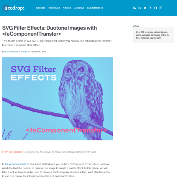SVG Filter Effects: Duotone Images with <feComponentTransfer> | Codrops