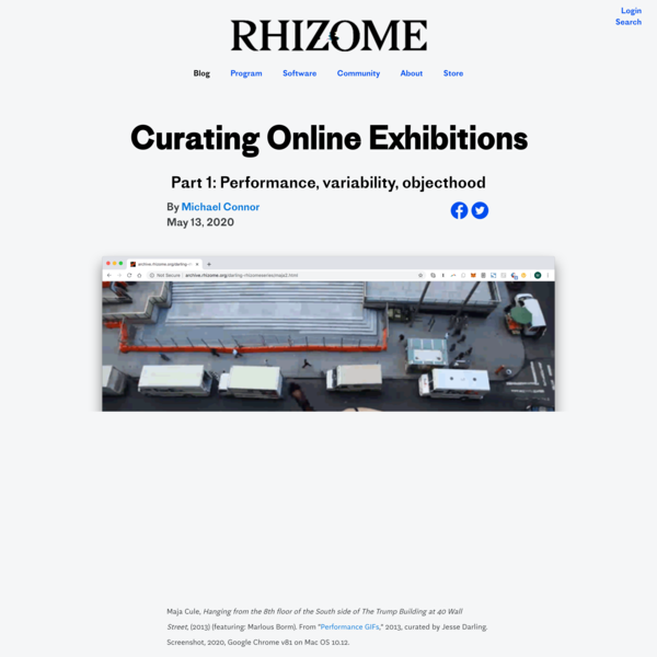 Curating Online Exhibitions