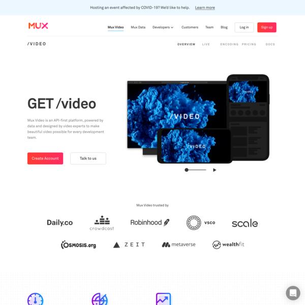 The API to Video | Mux