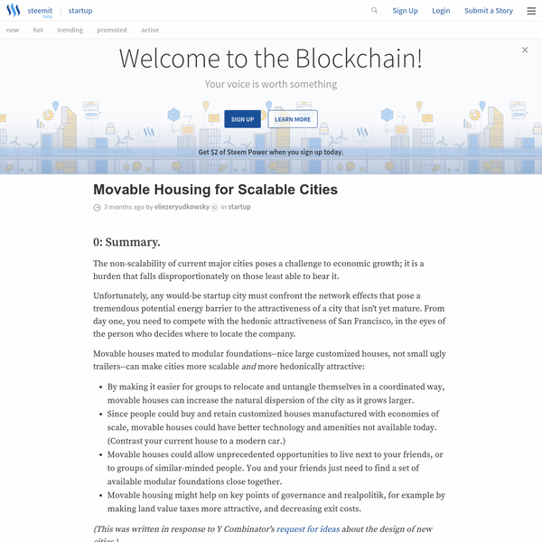Movable Housing for Scalable Cities - Steemit