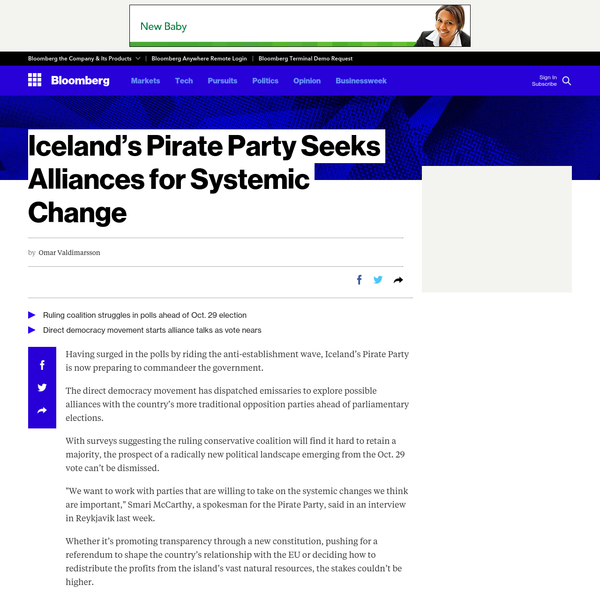 Iceland's Pirate Party Is Building Alliances for Systemic Change
