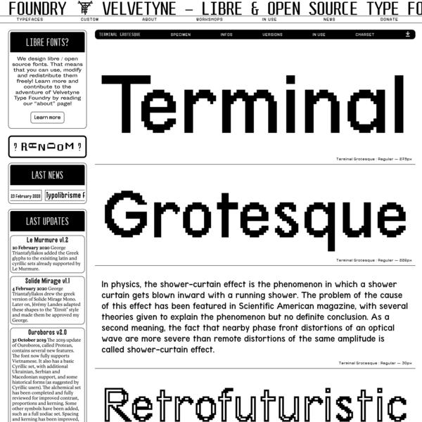 Terminal Grotesque