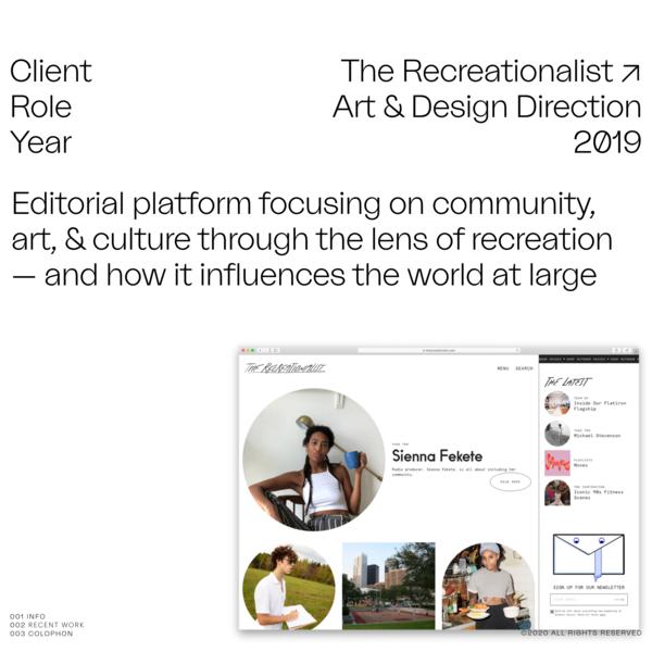 Work: Chris Ralston — The Recreationalist