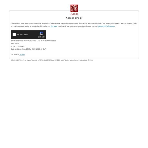 JSTOR: Access Check
