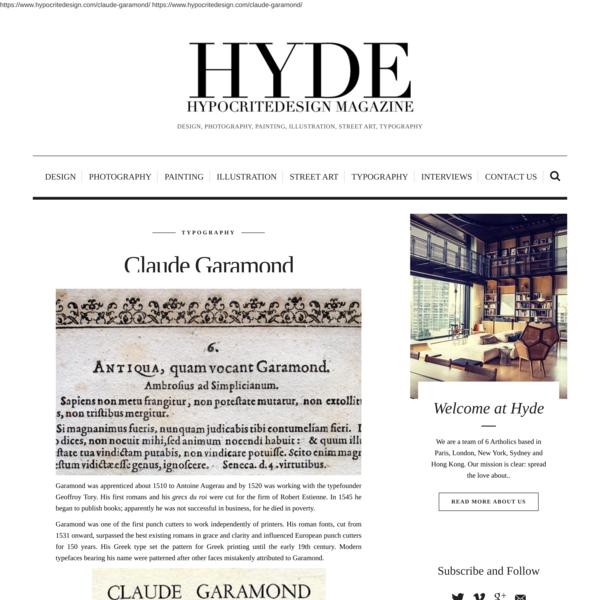 Claude Garamond - hypocritedesign