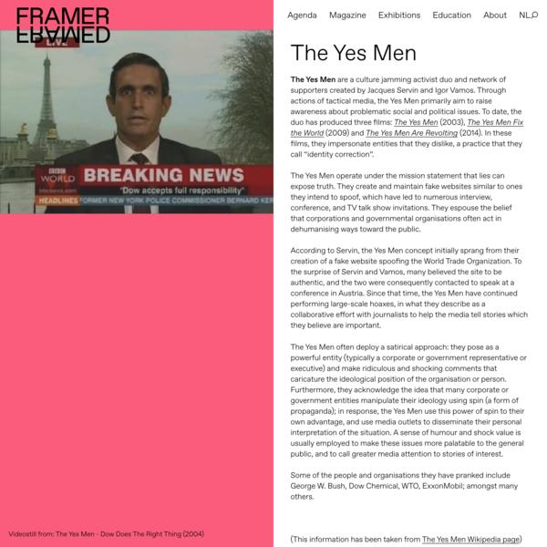 The Yes Men – Framer Framed