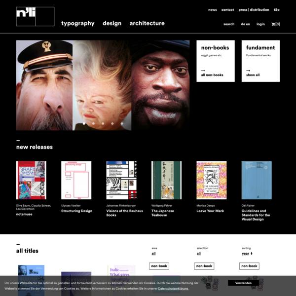 architecture, design and typography books | niggli Verlag