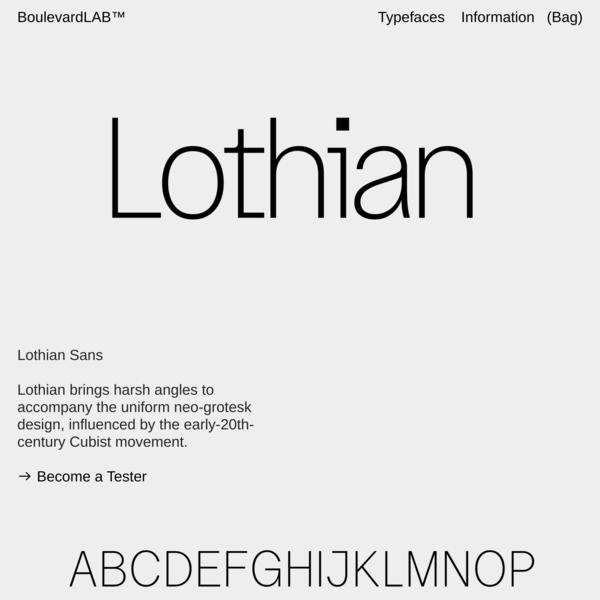 Lothian Sans — Boulevard LAB