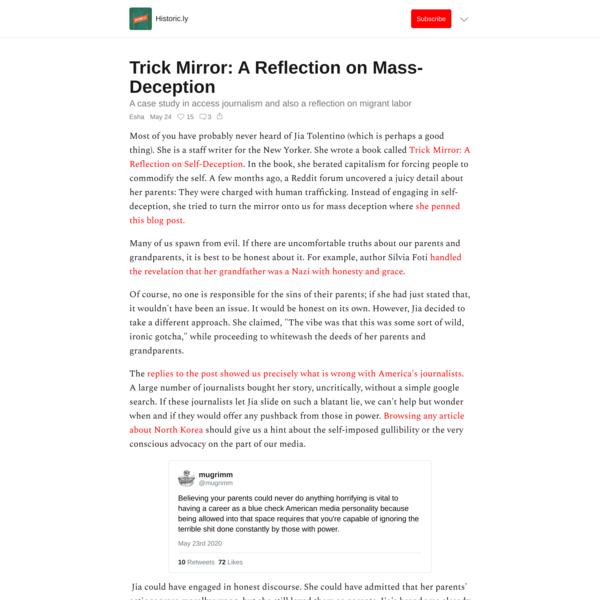 Trick Mirror: A Reflection on Mass-Deception