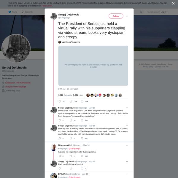 Sergej Dojcinovic on Twitter