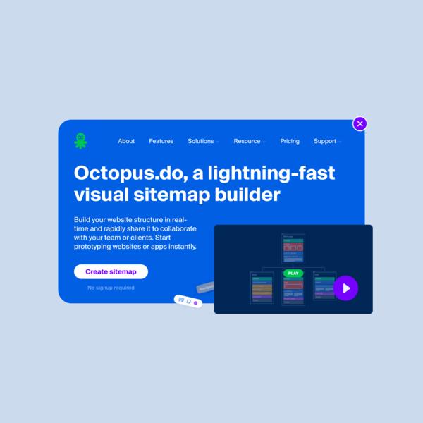 Lightning-Fast Visual Sitemap Builder   Octopus.do