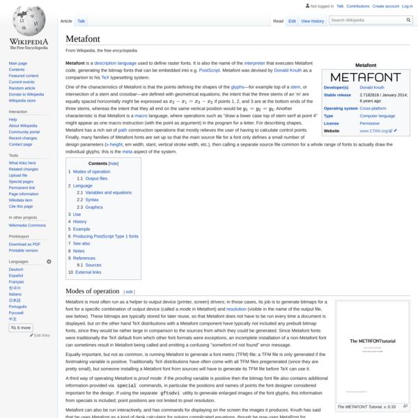 Metafont - Wikipedia