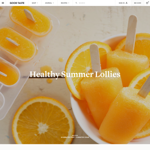 Healthy Summer Lollies for Kids recipe