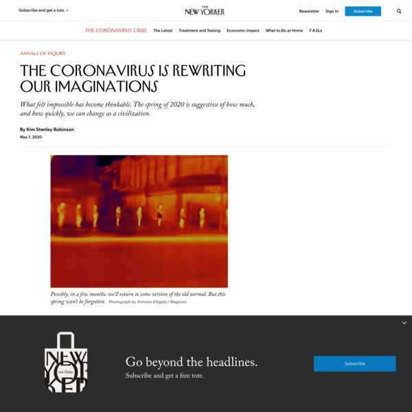 The Coronavirus Is Rewriting Our Imaginations
