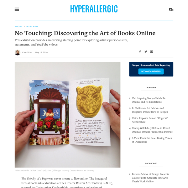 No Touching: Discovering the Art of Books Online