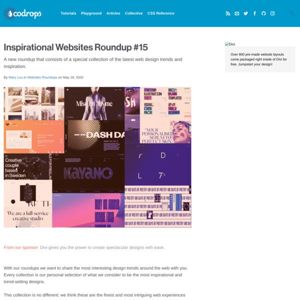 Inspirational Websites Roundup #15 | Codrops