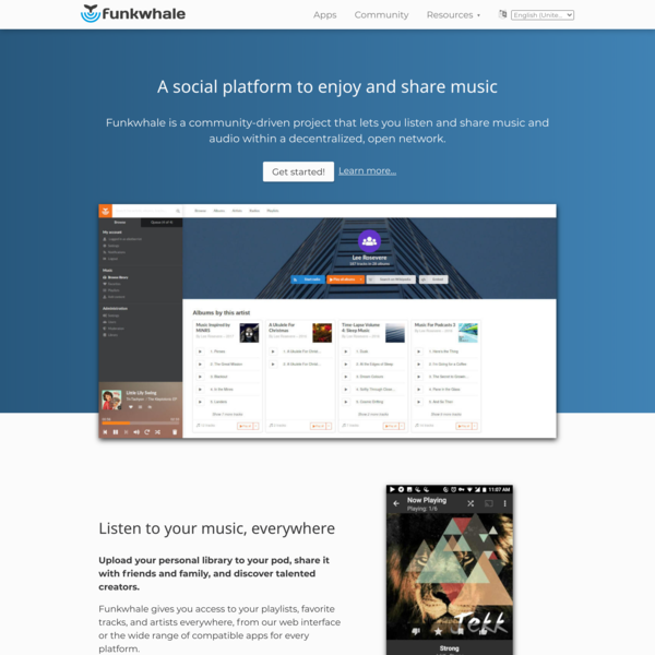 Funkwhale - Your free and decentralized audio platform