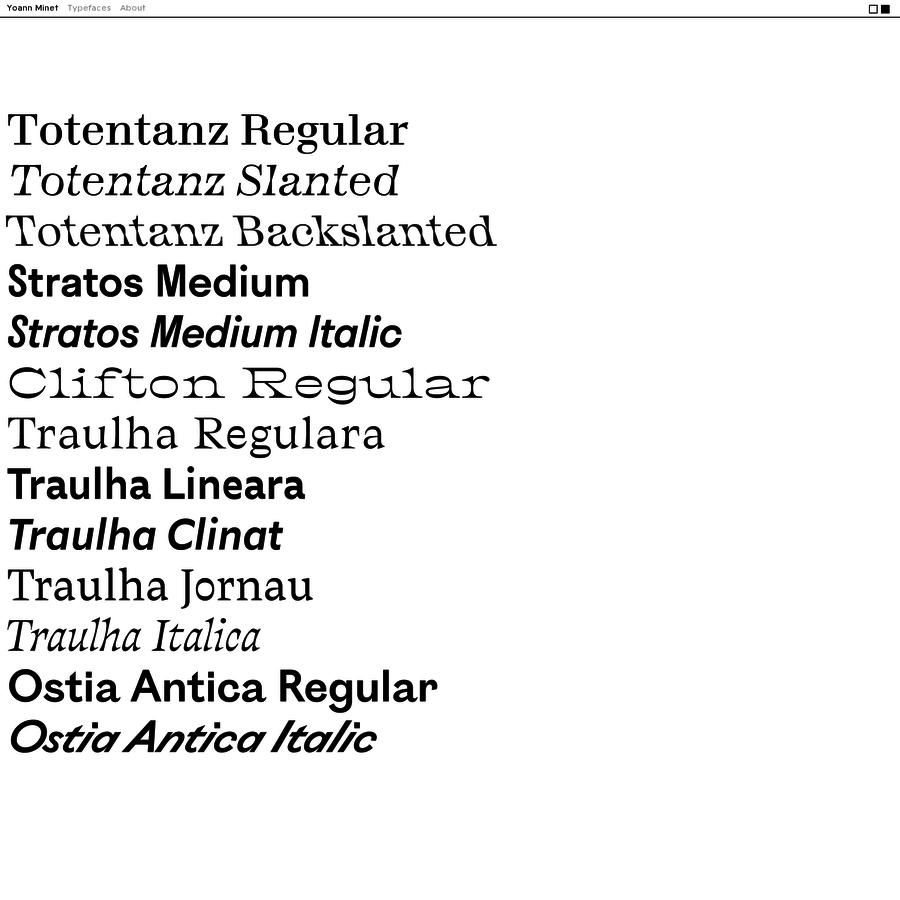 Yoann Minet - Design graphique & Typographie