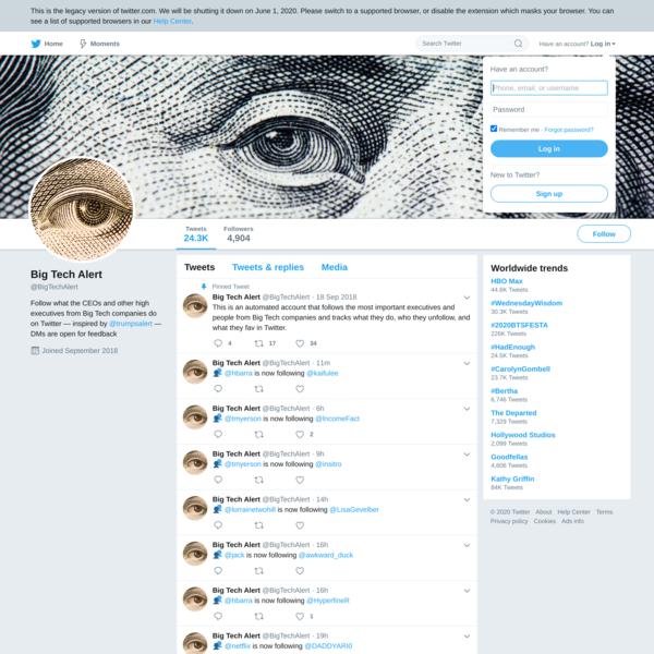 Big Tech Alert (@BigTechAlert) | Twitter
