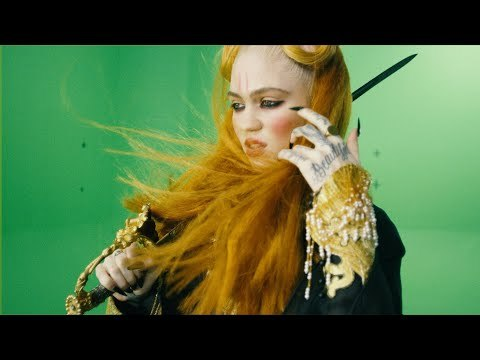 Grimes - You'll Miss Me When I'm Not Around (Chroma Green Video)