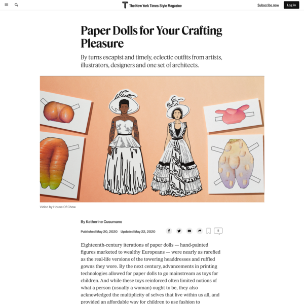 Paper Dolls for Your Crafting Pleasure