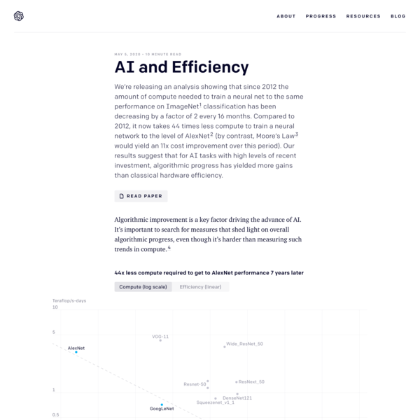 AI and Efficiency