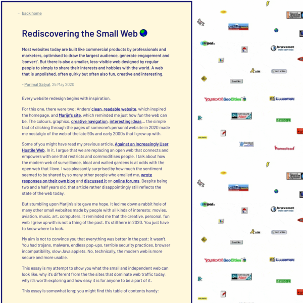 Rediscovering the Small Web - Neustadt.fr