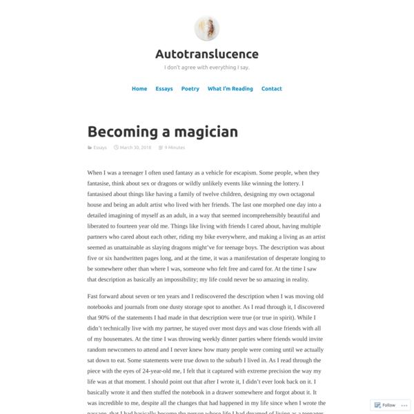 Becoming a magician