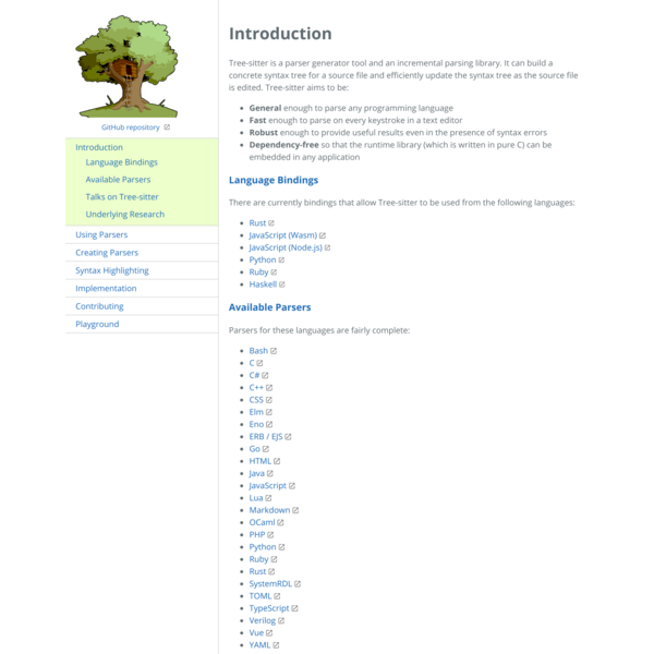 Tree-sitter|Introduction