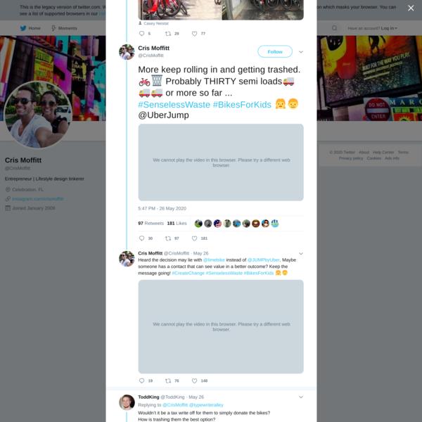 Cris Moffitt on Twitter