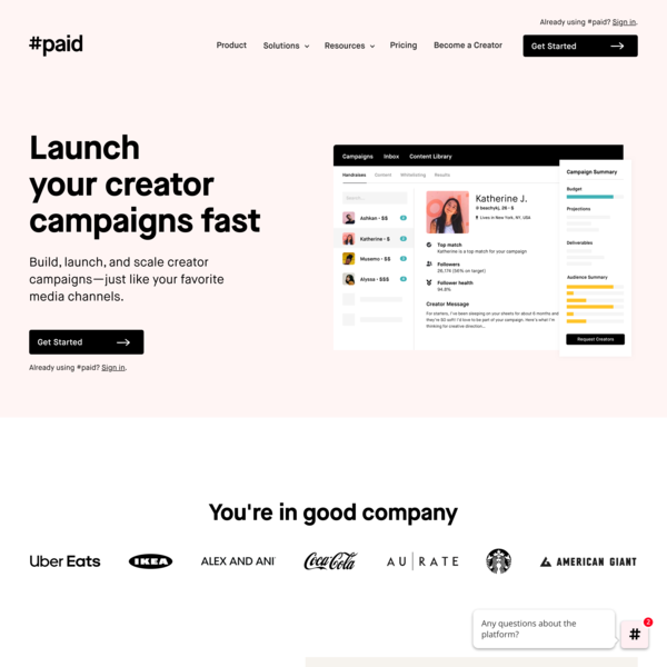 #paid | Influencer marketing platform