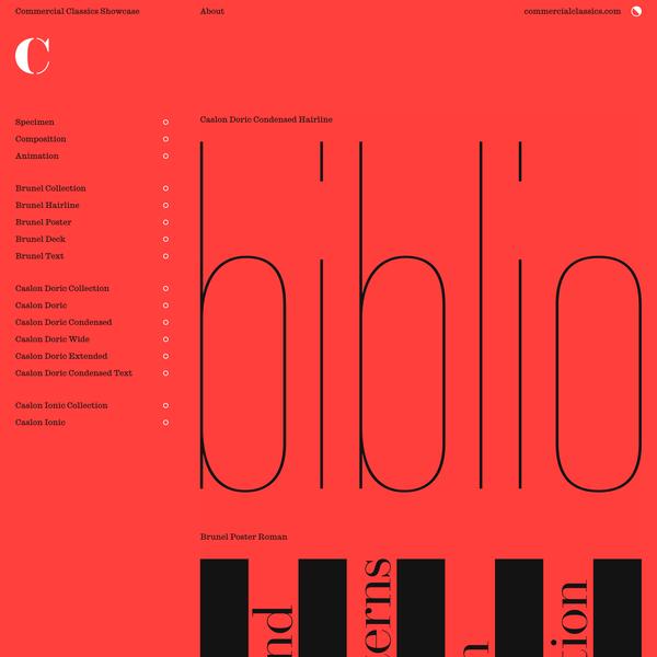 Three cornerstone typefaces | Commercial Classics