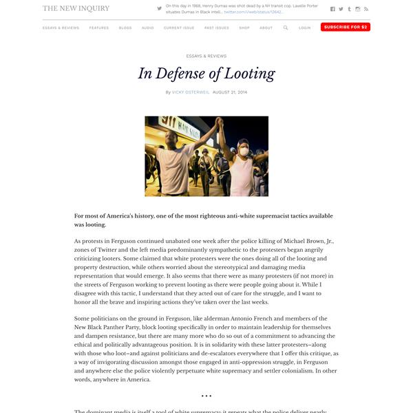 In Defense of Looting