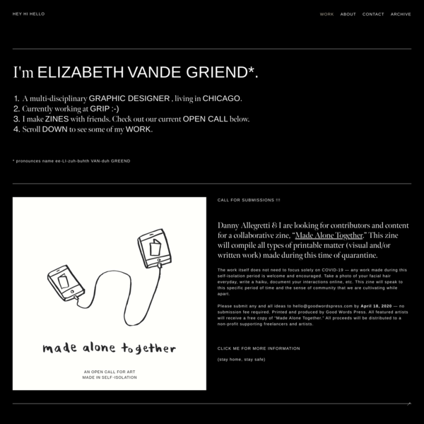 ELIZABETH VANDE GRIEND