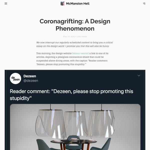 Coronagrifting: A Design Phenomenon
