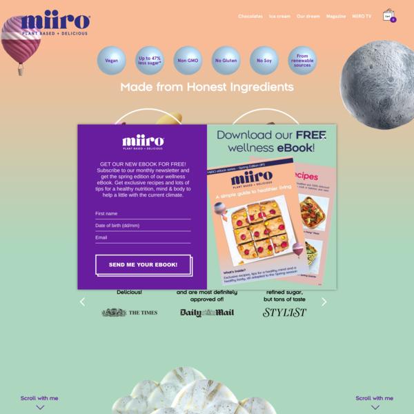 Home - MiiRO   Plant Based + Delicious
