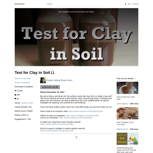 Test for Clay in Soil