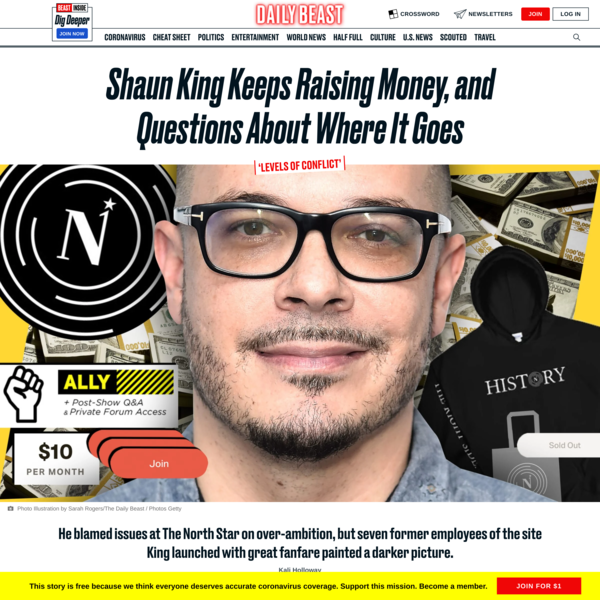 Shaun King Keeps Raising Money, and Questions About Where It Goes