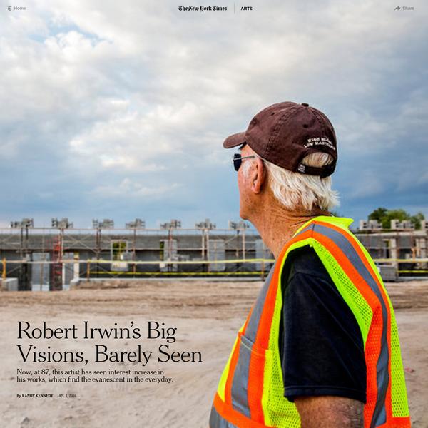 Robert Irwin's Big Visions, Barely Seen