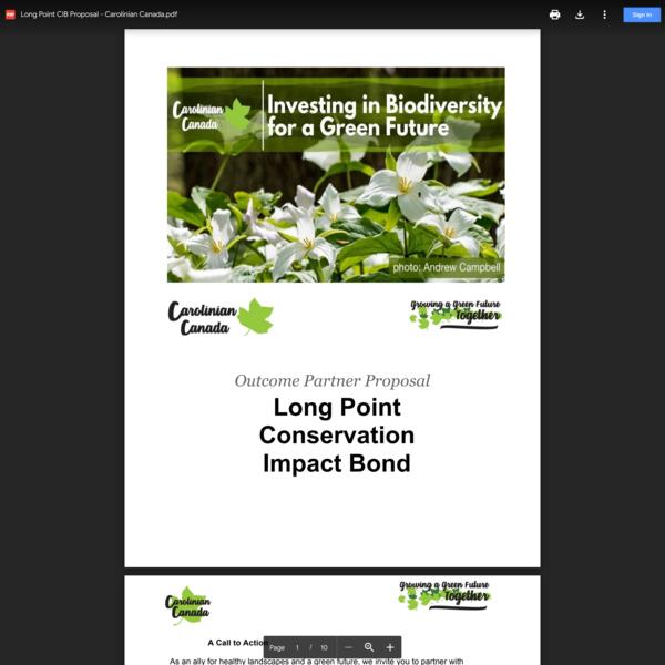 Long Point CIB Proposal - Carolinian Canada.pdf