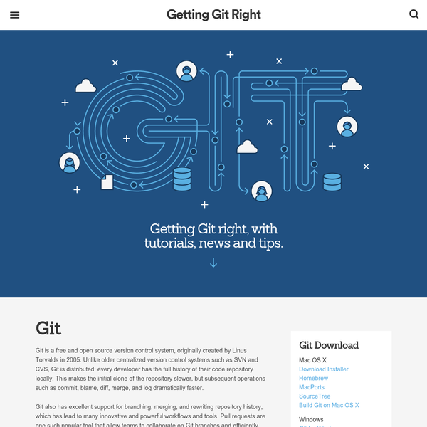 Git is a distributed version control system: every developer has the full history of their code repository locally. Install and learn Git from beginner to advanced Git commands and workflows here.
