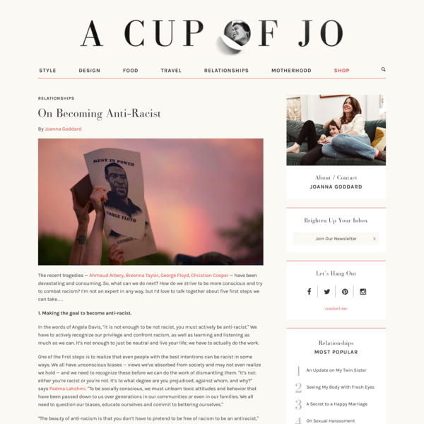 On Becoming Anti-Racist | A Cup of Jo