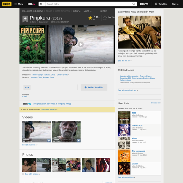 Piripkura (2017) - IMDb