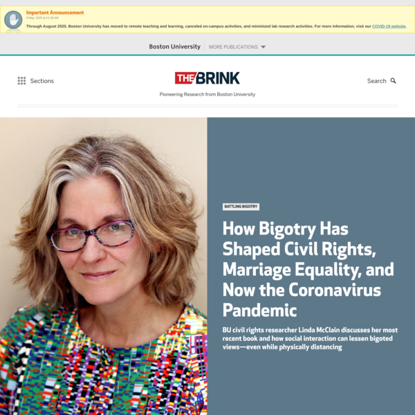 How Bigotry Has Shaped Civil Rights, Marriage Equality, and Now the Coronavirus Pandemic