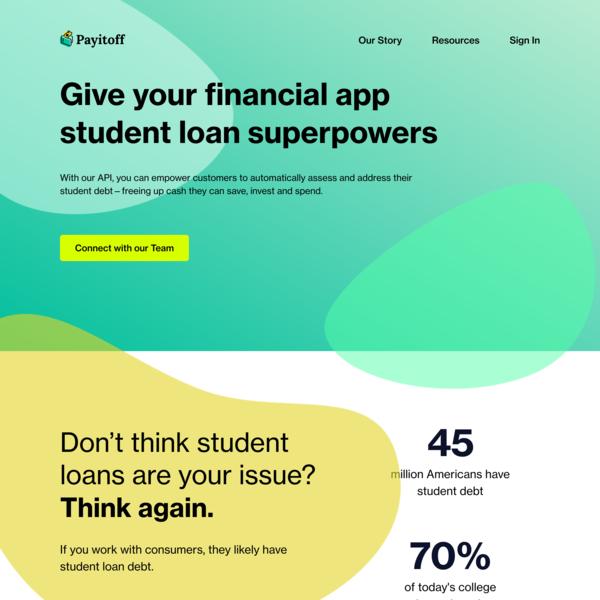 Student Loan API - Payitoff