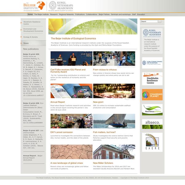 The Beijer Institute of Ecological Economics